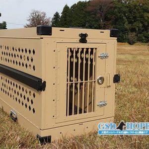 大型犬頑丈ケージ軍用犬愛用-タン色XL ズィーナ愛用中モデル