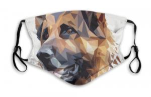 ジャーマンシェパード犬マスクデザイン